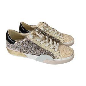 Dolce Vita fur sparkly tennis shoes size 8.5 NWOT